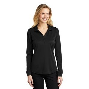 Ladies Port Authority� Silk Touch� Long Sleeve Performance Polo Shirt