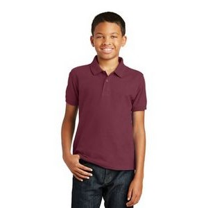 Port Authority� Youth Core Classic Pique Polo Shirt