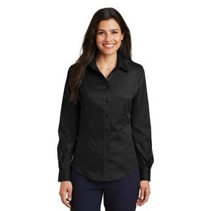 Port Authority® Ladies Long Sleeve Non-Iron Twill Shirt