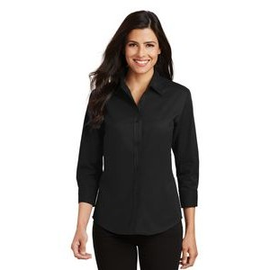 Port Authority� Ladies' Easy Care 3/4 Sleeve Shirt