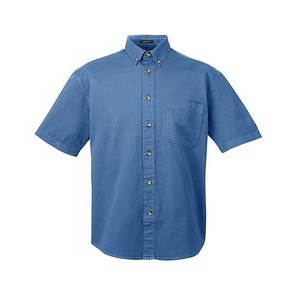 ULTRACLUB Adult Cypress Short-Sleeve Denim with Pocket