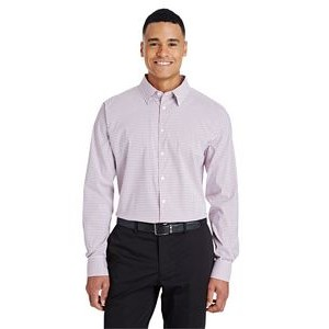 Devon and Jones CrownLux Performance? Men's Micro Windowpane Shirt