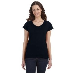 Gildan Ladies' SoftStyle� 4.5 oz. Fitted V-Neck T-Shirt
