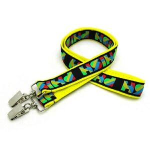 "1"" Woven Lanyard w/ Double Standard Attachment"